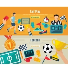 Soccer Banner Set vector