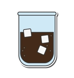 soda ice cube glass design vector image