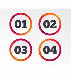 step one two three icons sequence of options vector image