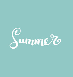 summerbrush handwritten lettering vector image