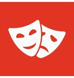 The theater and mask icon Drama comedy tragedy vector image
