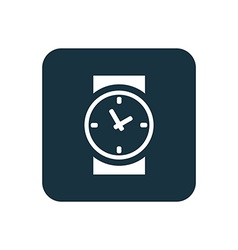 time icon Rounded squares button vector image