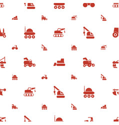 Tractor icons pattern seamless white background vector