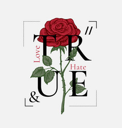 true love and hate abstract print design vector image
