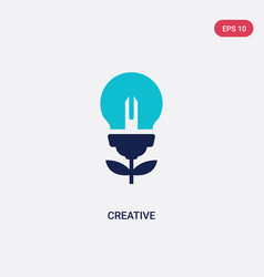 two color creative icon from creative pocess vector image