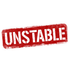 Unstable sign or stamp vector