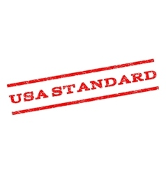 USA Standard Watermark Stamp vector image