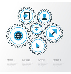 User colorful icons set collection of quest vector