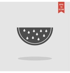 Watermelon slice cut icon vector image