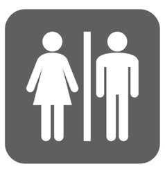 WC Persons Flat Squared Icon vector image