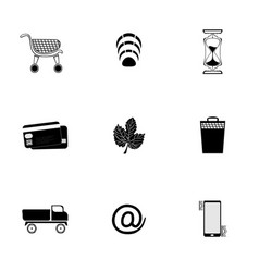 web icons set black on white background vector image