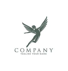 Winged fairy logos vector