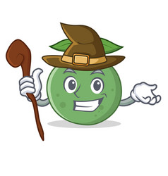 Witch guava mascot cartoon style vector