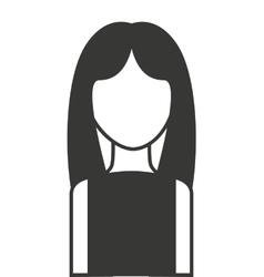 woman female silhouette icon vector image