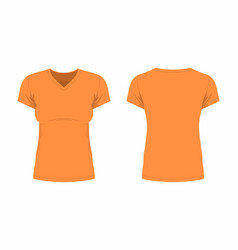 Womens orange t shirt vector