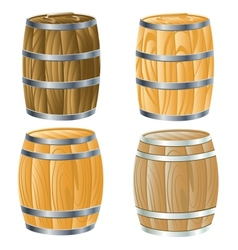 wooden barrel of vector image