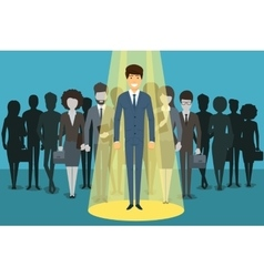 Businessman in spotlight Human resource vector image vector image