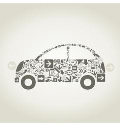 Car arrow vector image vector image