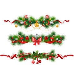 Christmas decoration with spruce tree vector image