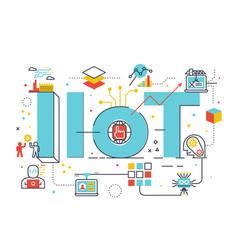 iiot industrial internet of things vector image