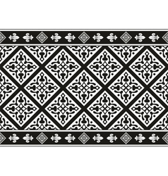 Seamless black-and-white gothic floral texture vector image