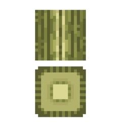 Texture for platformers pixel art - green vector image vector image
