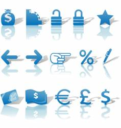 finance website icons vector image vector image