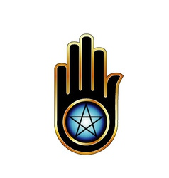 Hand with a Pentacle vector image