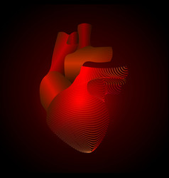 heart with a point of pain stylized transition vector image