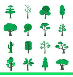iicon set of green trees vector image
