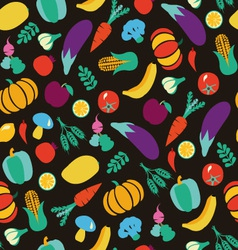 vegatables and fruits pattern 38 vector image