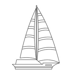 yacht icon outline style vector image