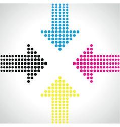 cmyk arrows vector image