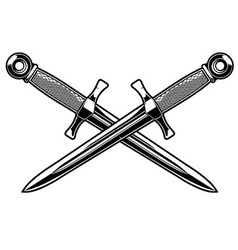 crossed dagger vector image vector image