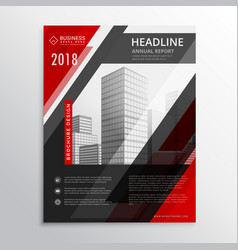 red and black business brochure flyer design vector image vector image