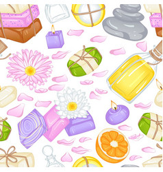 various soap pattern vector image vector image