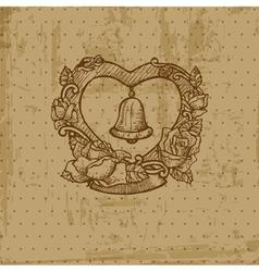 vintage wedding postcard vector image