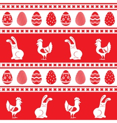 Easter ornament pattern vector image vector image