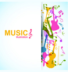 music abstract design concept vector image