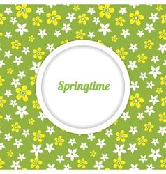 springtime background vector image
