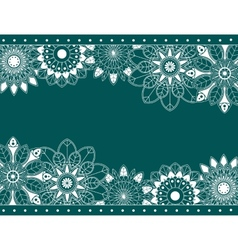 Abstract border with floral elements vector image