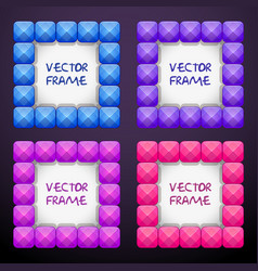 Abstract cteative square jewelry frames consisting vector