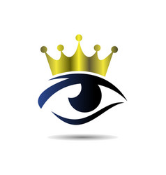 abstract eye king logo icon vector image