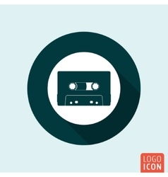 Audio cassette icon isolated vector
