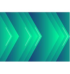 background green arrow vector image