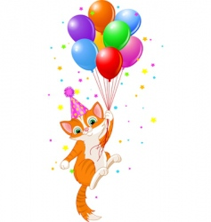 Balloons cat vector