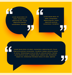 Black modern quotes template in chat bubble style vector