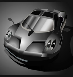 black sports car vector image