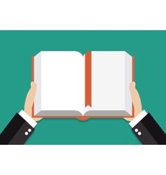 Book reading concept vector