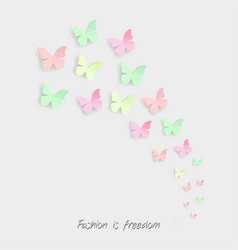butterflies and calligraphy forever on white vector image